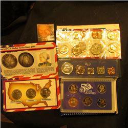 1966 Special Mint Set Plus 1979 Mint Set, Susan B Anthony Three Dollar Set, And 2007 Proof State Qua