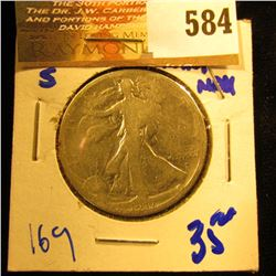 1917-S Walking Liberty Half Dollar With Obverse Mint Mark