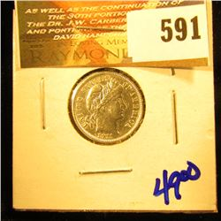 Show Stopper 1911 P Barber Dime.  This One Is A Beauty