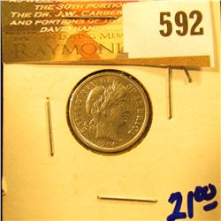 1904 P Barber Dime With Full Liberty