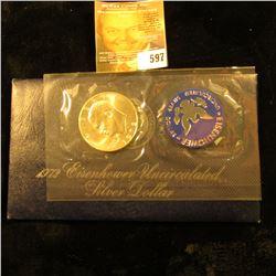 """1972-S Silver """"Blue Ike """" Dollar"""