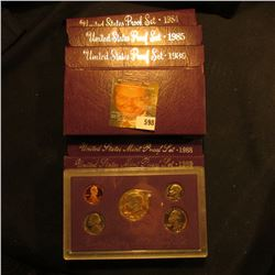 1984, 1985, 1986, 1988, And 1989 Proof Sets