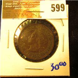 1891 Canadian Large Cent