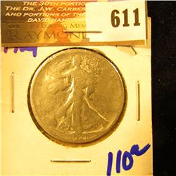 1921 P Walking Liberty Half Dollar Key Date Coin