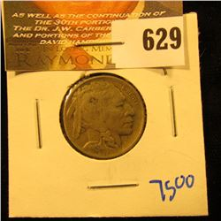 1918-D Buffalo Nickel With Horn Visible