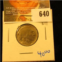 1913 P Type 2 Buffalo Nickel With Full Horn