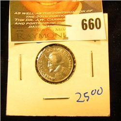 1932 1/10 Silver Balboa From Panama