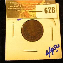 1864 L Indian Head Penny