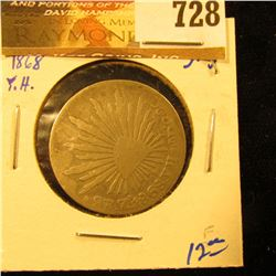Mexico 1868-Y.H. Silver 2 Reales