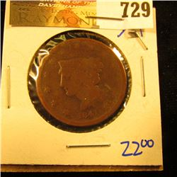1841 Braided Hair Large Cent