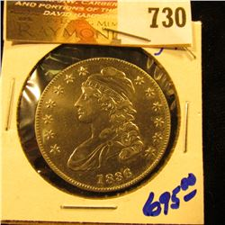 Beautiful High Grade 1836 Bust Half Dollar