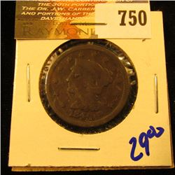 1845 Braided Hair Large Cent