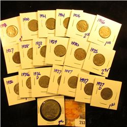 Over Sized Buffalo Nickel Plus 1927, 1921, 1928, 1937, 1937, 1929, 1937-D. 1936, 1935, 1936-D, 1921,