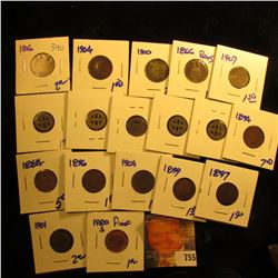 Mixed Lot Includes 1894, 1907, 1897, 1899, 1904, 1884,  1896, And 1901 Indian Head Pennies.  The Lot