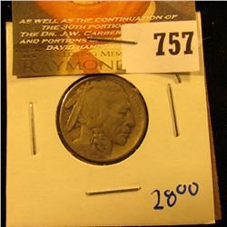 1913 Type 2 Buffalo Nickel With Full Horn