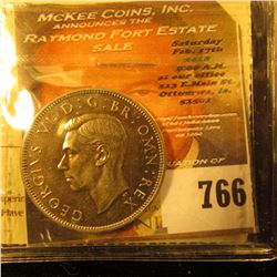 1950 British Shilling Graded ICCS Proof 65.  This Coin Grading Service Is Very Reputable In Canada