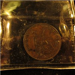 1887 British Half Penny Graded Vf 20 By Iccs Grading Service Plus 1970 British Half Crown Dated 1970