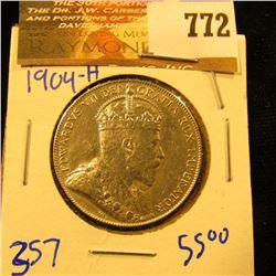 1904-H Newfoundland Silver Half Dollar