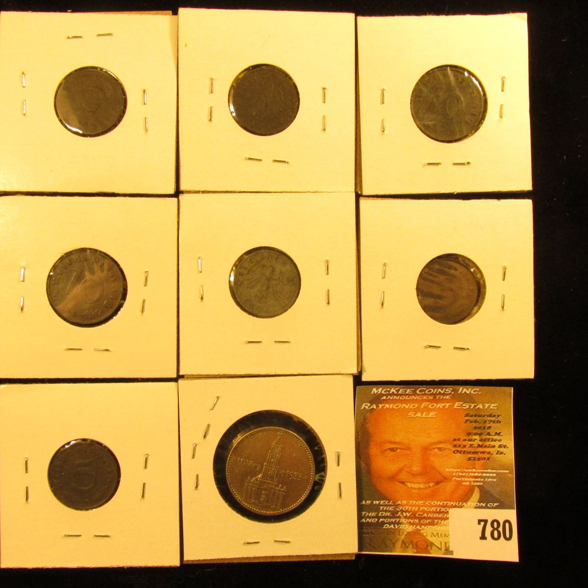 5 25 Lot of German 10 coins 1 10 pfennig  with Swastika