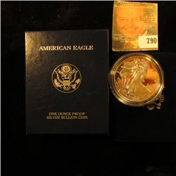 2001 Proof American Silver Eagle With Box And COA