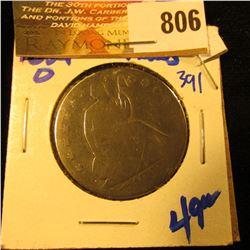 1854-O Seated Half Dollar With Arrows