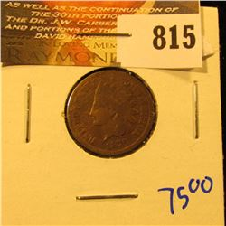 1876 Better Date Indian Head Penny