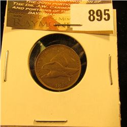 1857 U.S. Flying Eagle Cent, EF.