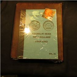 "Harco Coinmaster Album ""Franklin Halves 1948-1963"" Used; & Library of Coins ""Franklin Head Half Doll"