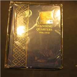 "Near mint condition Whitman album ""Liberty Standing Quarters 1916-1930""."