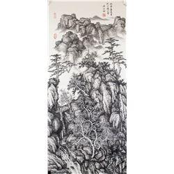 Liang Shiyu b.1945 Chinese Watercolor Landscape