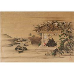 Xing Dai Japanese Watercolour Monk