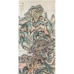 Yang Borun 1837-1911 Chinese Watercolour Landscape