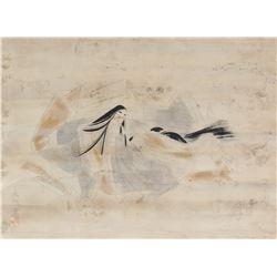 Ryosaku Japanese Watercolour Nobel Lady
