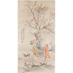 Wang Xiaomou 1794-1877 Chinese Watercolour Trip