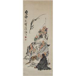 Wang Zhen 1867-1938 Chinese Watercolour Scroll