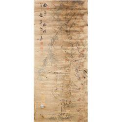 Xiao Shan Japanese Watercolour Cranes & Willow