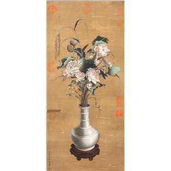 Lang Shining 1688-1766 Chinese Watercolour Lotus