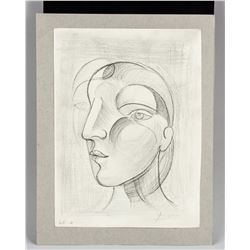 Picasso 1881-1973 Sketch Pencil on Paper Cubist