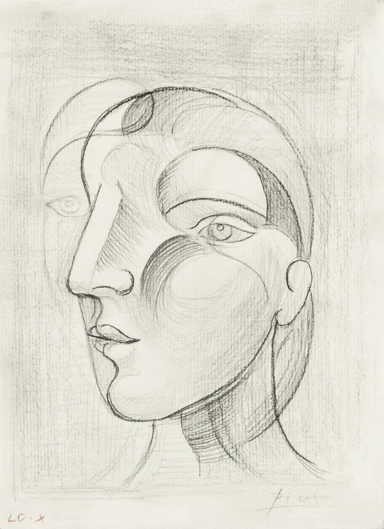 Picasso 1881 1973 sketch pencil on paper cubist
