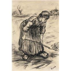 Vincent Van Gogh 1853-1890 Dutch  Charcoal Farmer