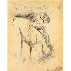 Edgar Degas Charcoal on Paper 1834-1917 Dancer