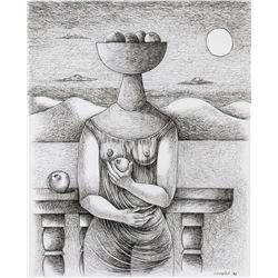Mario Carreño 1913-1998 Cuban Ink on Paper