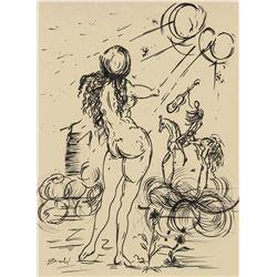 Salvador Dali 1904-1989 SpaIn Ink Study Horse