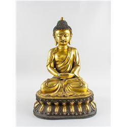Gilt Bronze Shakyamuni Buddha Statue Yongle