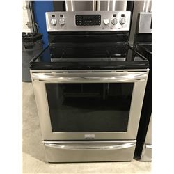 FRIGIDAIRE GALLERY STAINLESS STEEL GLASS TOP STOVE