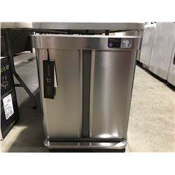SIMPLEHUMAN 58L STAINLESS STEEL GARBAGE CAN