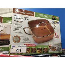 """COPPER CHEF XL  11"""" CASSEROLE PAN"""