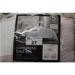 DOUBLE BANDED HOTEL KING SIZE BED SET