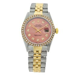 Rolex Pre-owned 36mm Mens Salmon Two Tone - REF-610Y2W