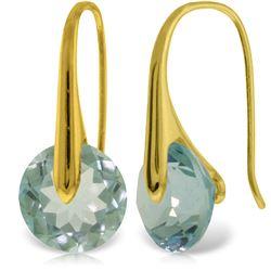 Genuine 16.5 ctw Blue Topaz Earrings Jewelry 14KT Yellow Gold - REF-78X9M